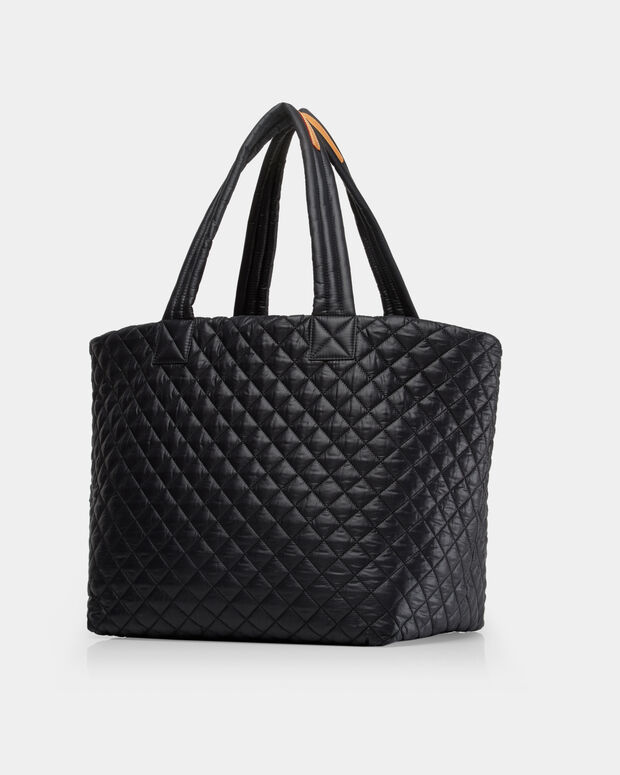Large Metro Tote - Black Quilted Oxford | MZ Wallace