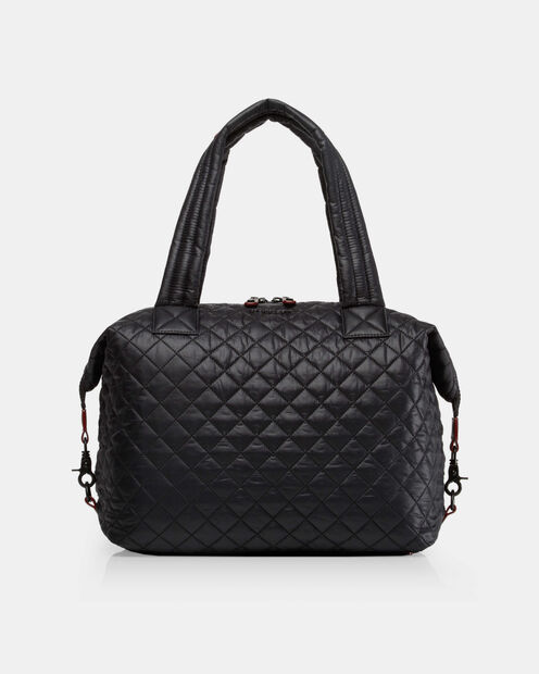 Large Sutton - Black Quilted  Oxford Nylon (2890108) in color Black