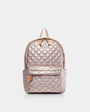 Rose Gold Metallic Small Metro Backpack