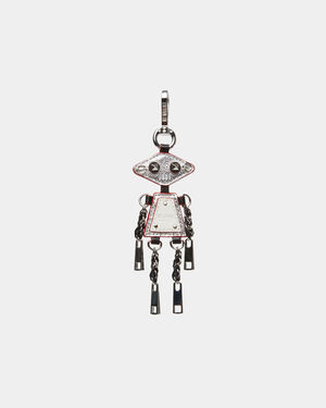 Silver Metallic Mr. Robot Charm (11751541)