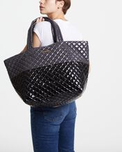 Magnet/Black Lacquer Large Metro Tote