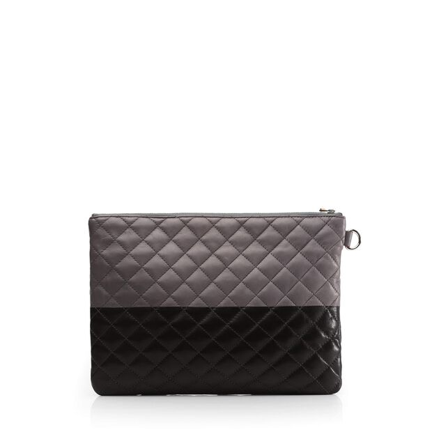 Metro Pouch - Black and Magnet Colorblock Leather (5351361) in color Black & Magnet