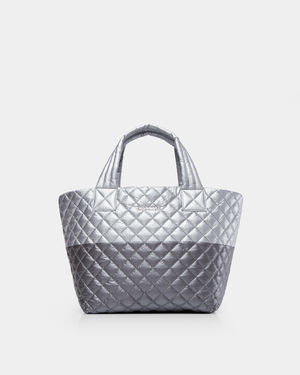 Tin/Steel Metallic Colorblock Small Metro Tote (3701545)