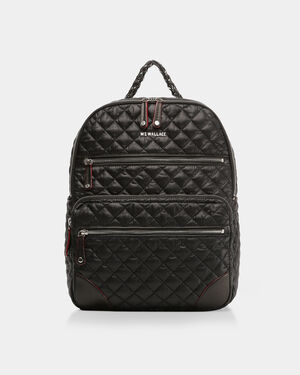 Black with Silver Hardware Crosby Backpack (10430108)