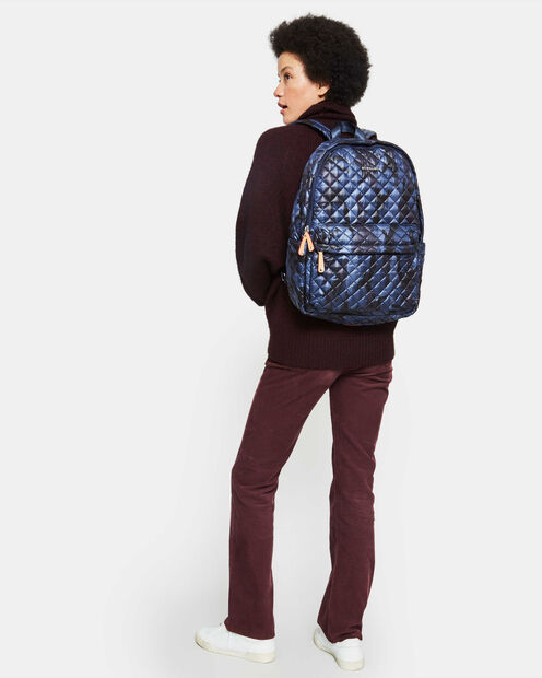 Medium Metro Backpack - Dark Blue Camo Oxford (7661311) in color Dark Blue Camo