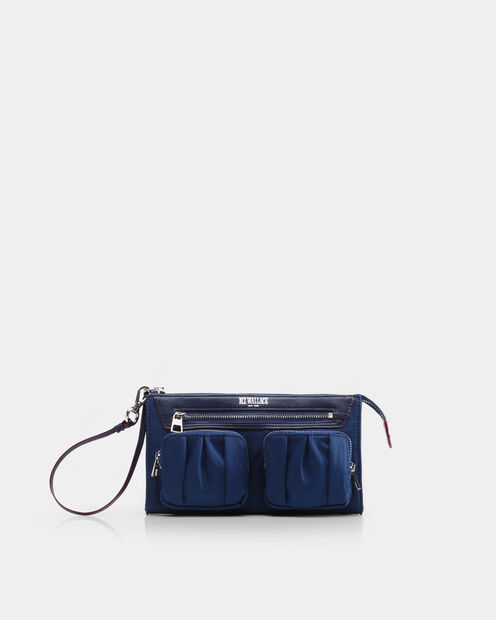 Abbey Wristlet in color Estate Blue