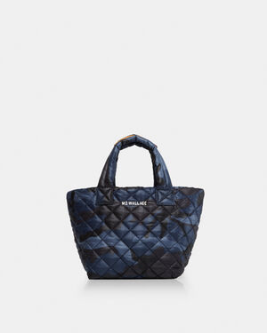Dark Blue Camo Oxford Micro Metro Tote (10521311)