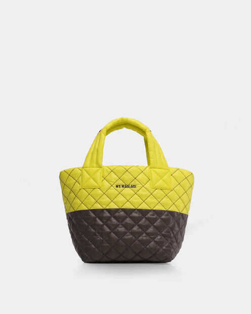 Mini Metro Tote in color Neon Yellow & Magnet