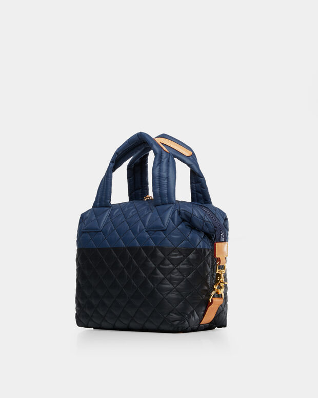 Black & Navy Colorblock Quilted Oxford Nylon Small Sutton (2880406)