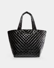 Black Lacquer Medium Metro Tote