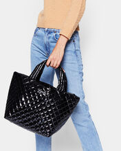 Black Lacquer Small Metro Tote