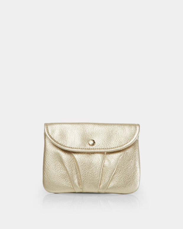 Platinum Metallic Leather Bettie Pouch (2841443)