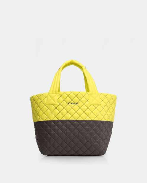 Small Metro Tote in color Neon Yellow & Magnet