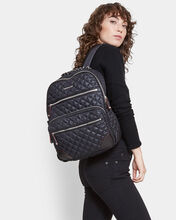 Black with Silver Hardware Crosby Backpack