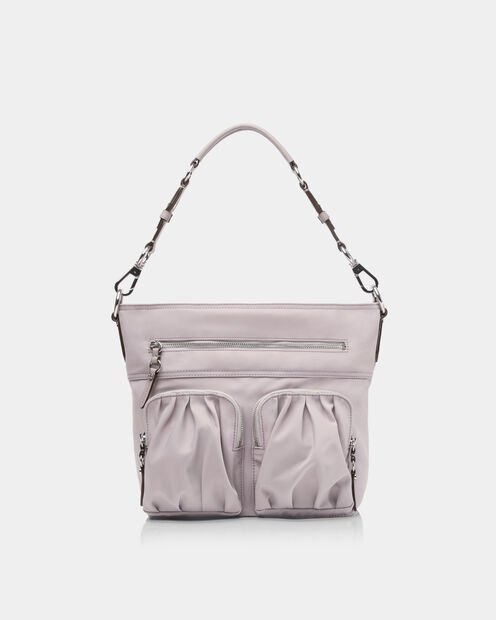 Belle Hobo in color Gull Grey