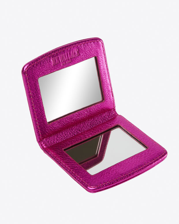 Hot Pink Metallic Leather Compact (4661444)