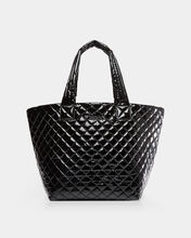 Black Lacquer Medium Metro Tote (3760434)