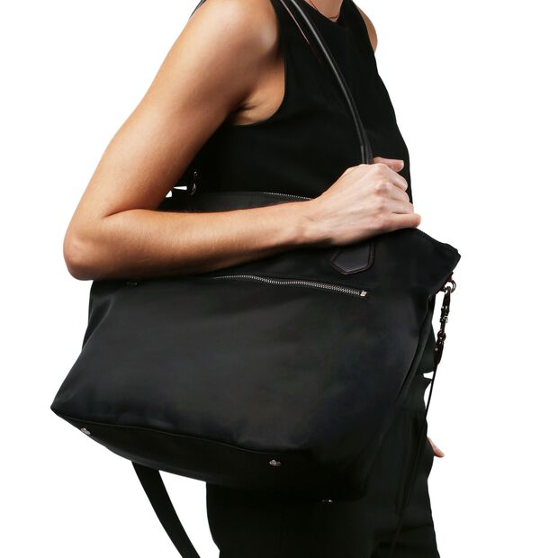 Black Bedford Moto Chelsea Tote (2110067) in color Black Moto