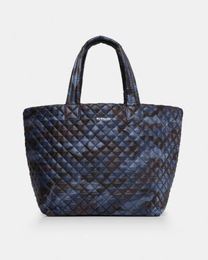 Dark Blue Camo Oxford Large Metro Tote (3711311)
