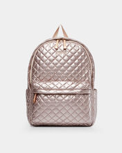Rose Gold Metallic Metro Backpack
