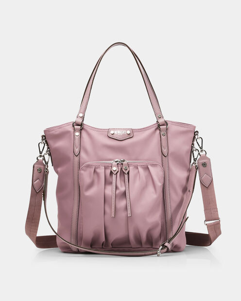 Nikki Tote in color Dusty Rose