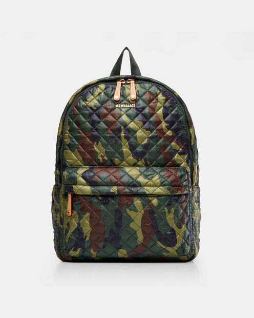 Medium Metro Backpack - Camo Quilted Oxford  (7660265) in color Camo