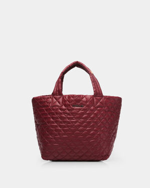 Small Metro Tote - Maroon Quilted Oxford (3701315)