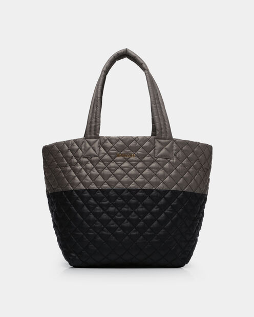 Medium Metro Tote in color Black & Magnet