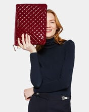 Cranberry Lacquer Metro Pouch