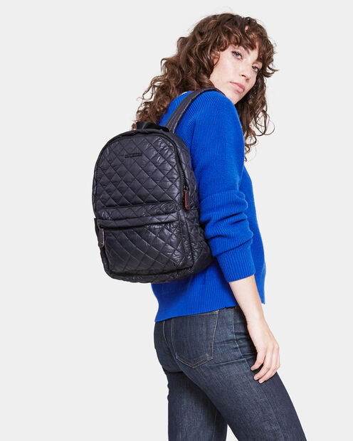 Small Metro Backpack - Black Quilted Oxford  (5840108) in color Black