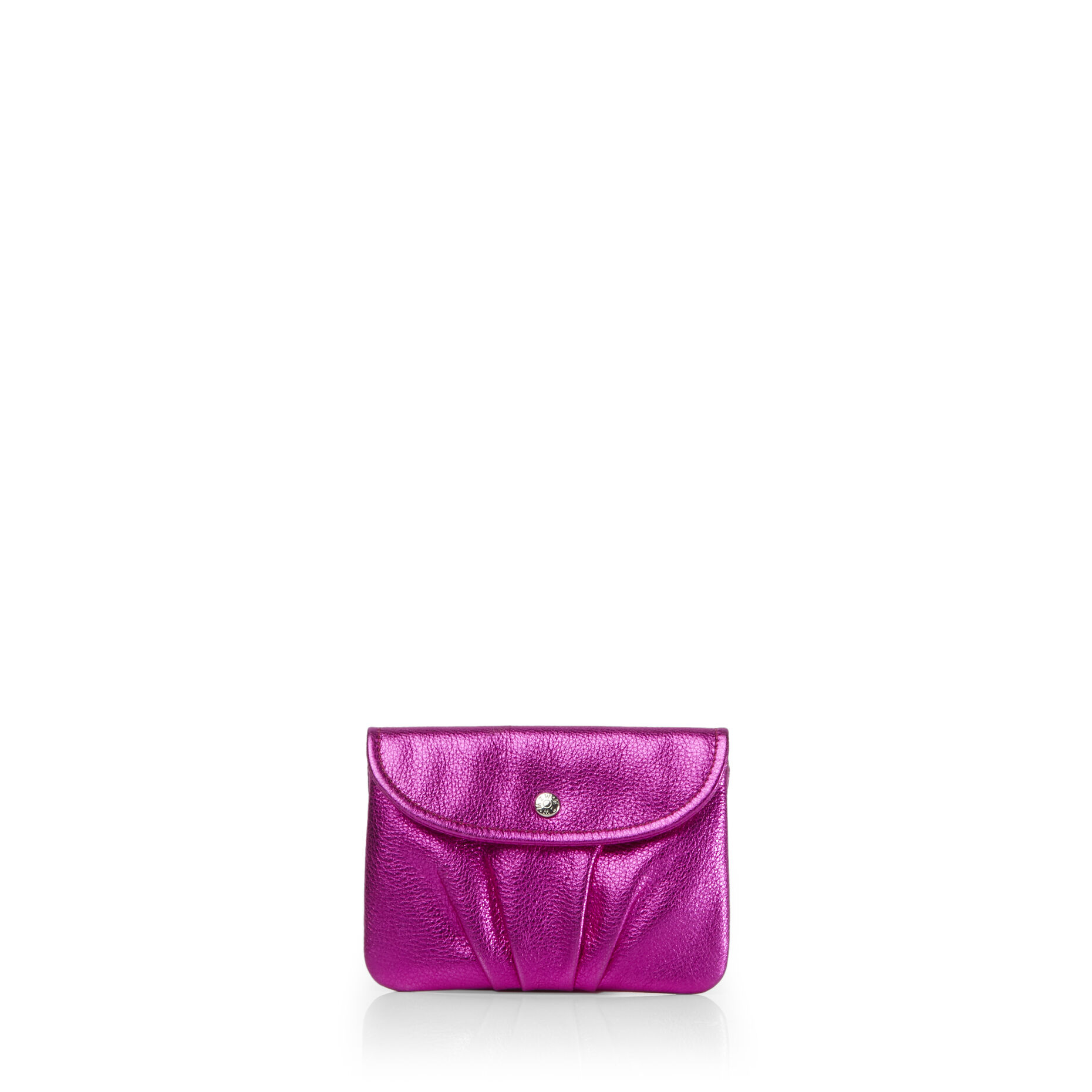 Hot Pink Metallic Leather Bettie Pouch (2841444)