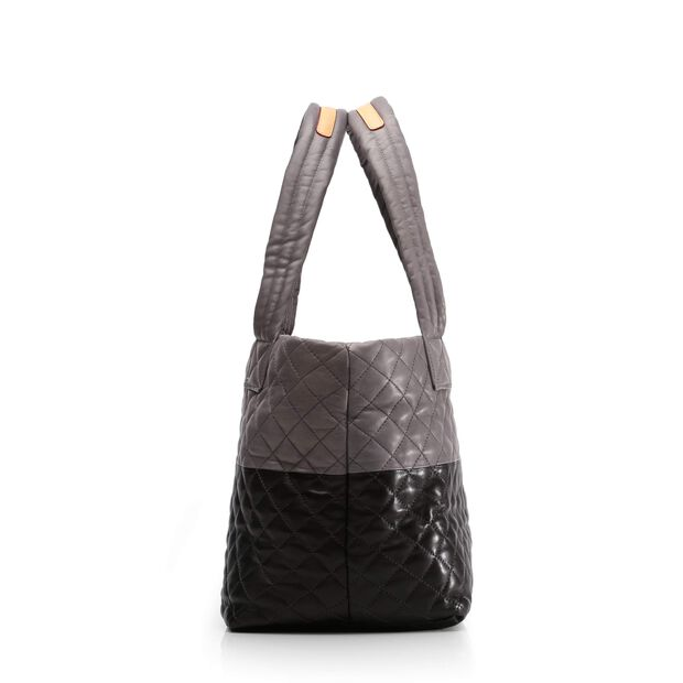Metro Tote - Black & Magnet Colorblock Leather (3701361) in color Black & Magnet Leather
