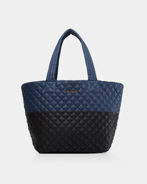 Medium Metro Tote in color Black & Navy