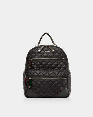Black with Silver Hardware Small Crosby Backpack (11470108)