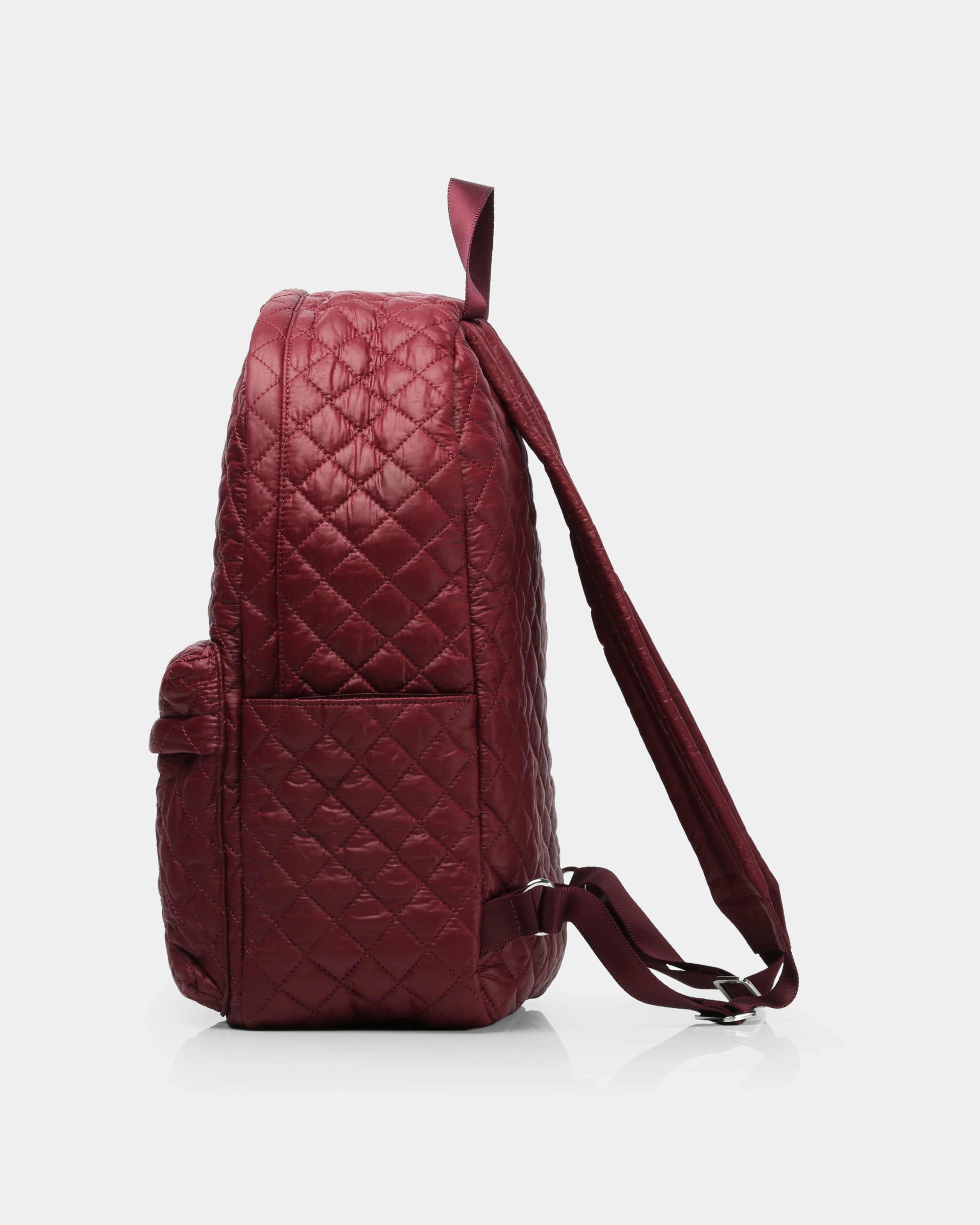 Medium Metro Backpack - Maroon Quilted Oxford (7661315) in color Maroon