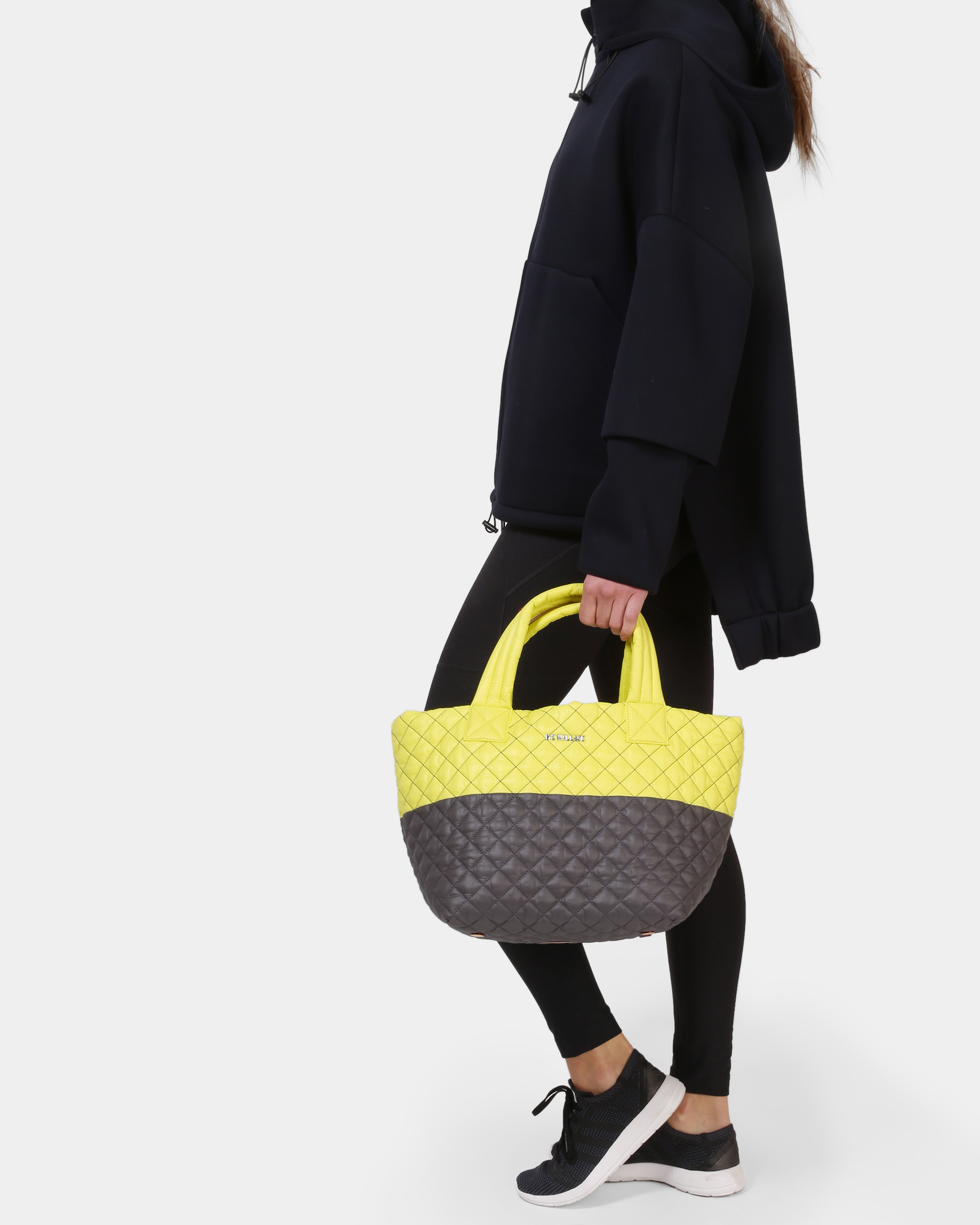 Neon Yellow/Magnet Oxford Metro Tote (3701370) in color Neon Yellow & Magnet