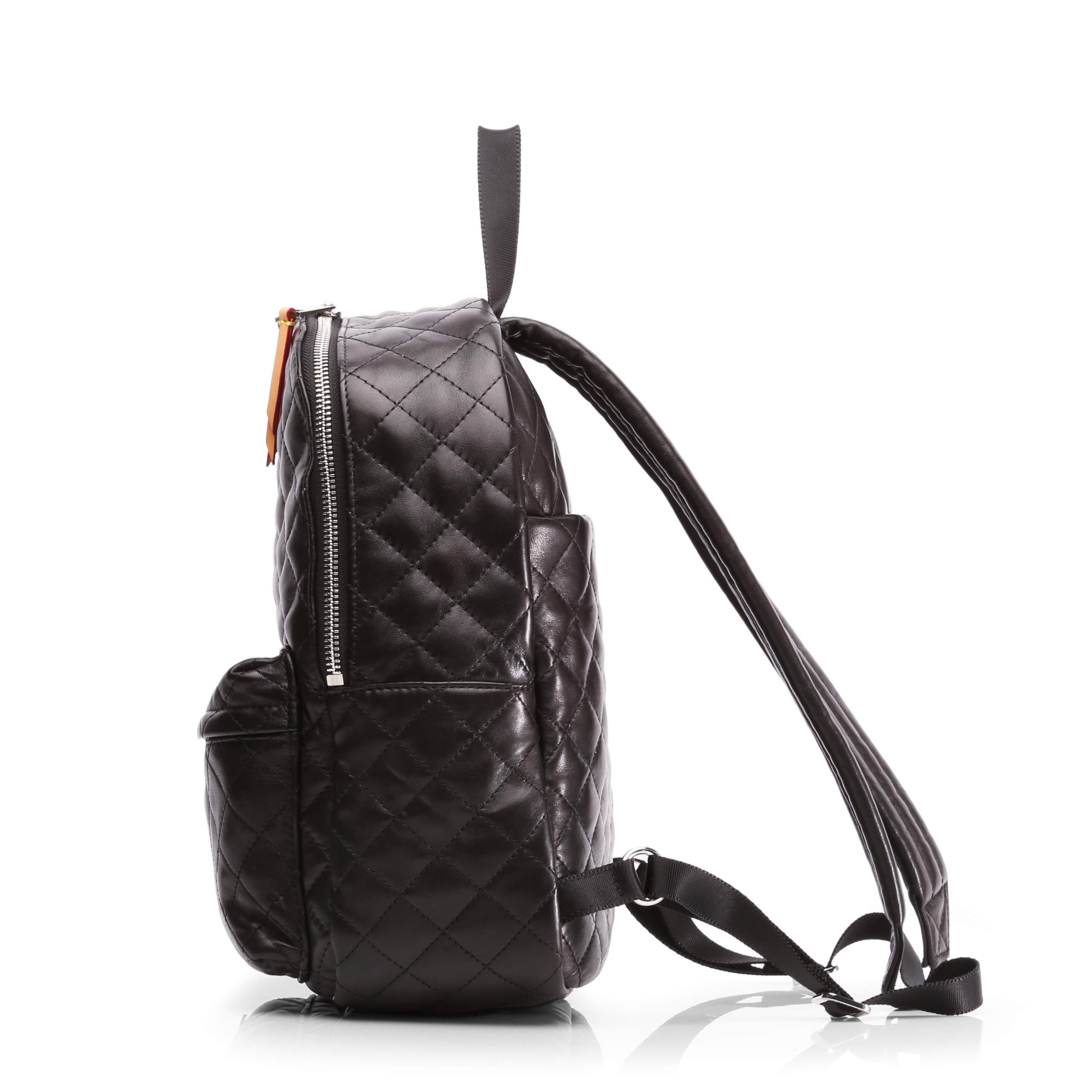 Small Metro Backpack - Black Quilted Leather (5841153) in color Black Leather