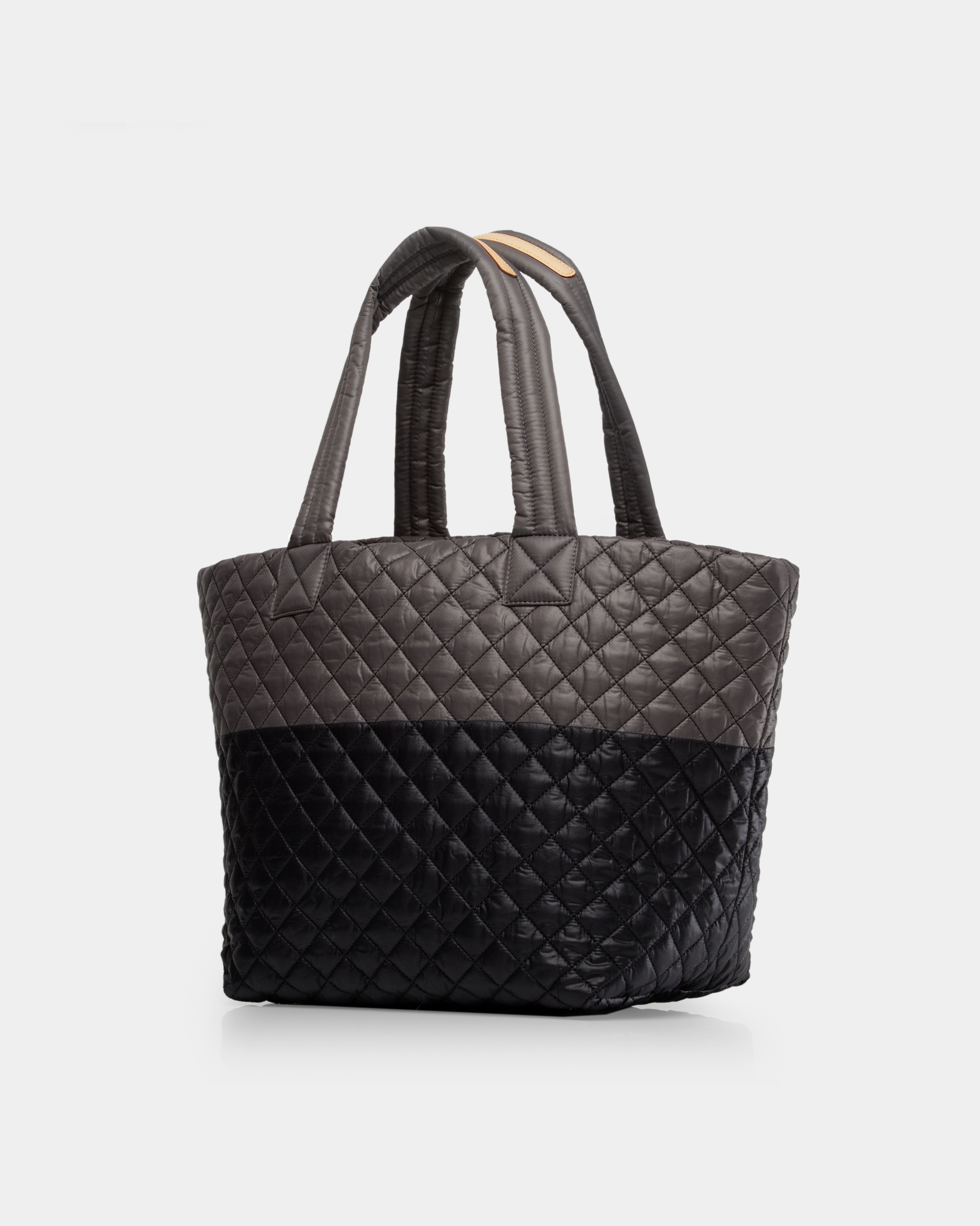 Medium Metro Tote - Black and Magnet Quilted Colorblock (3761329) in color Black/Magnet