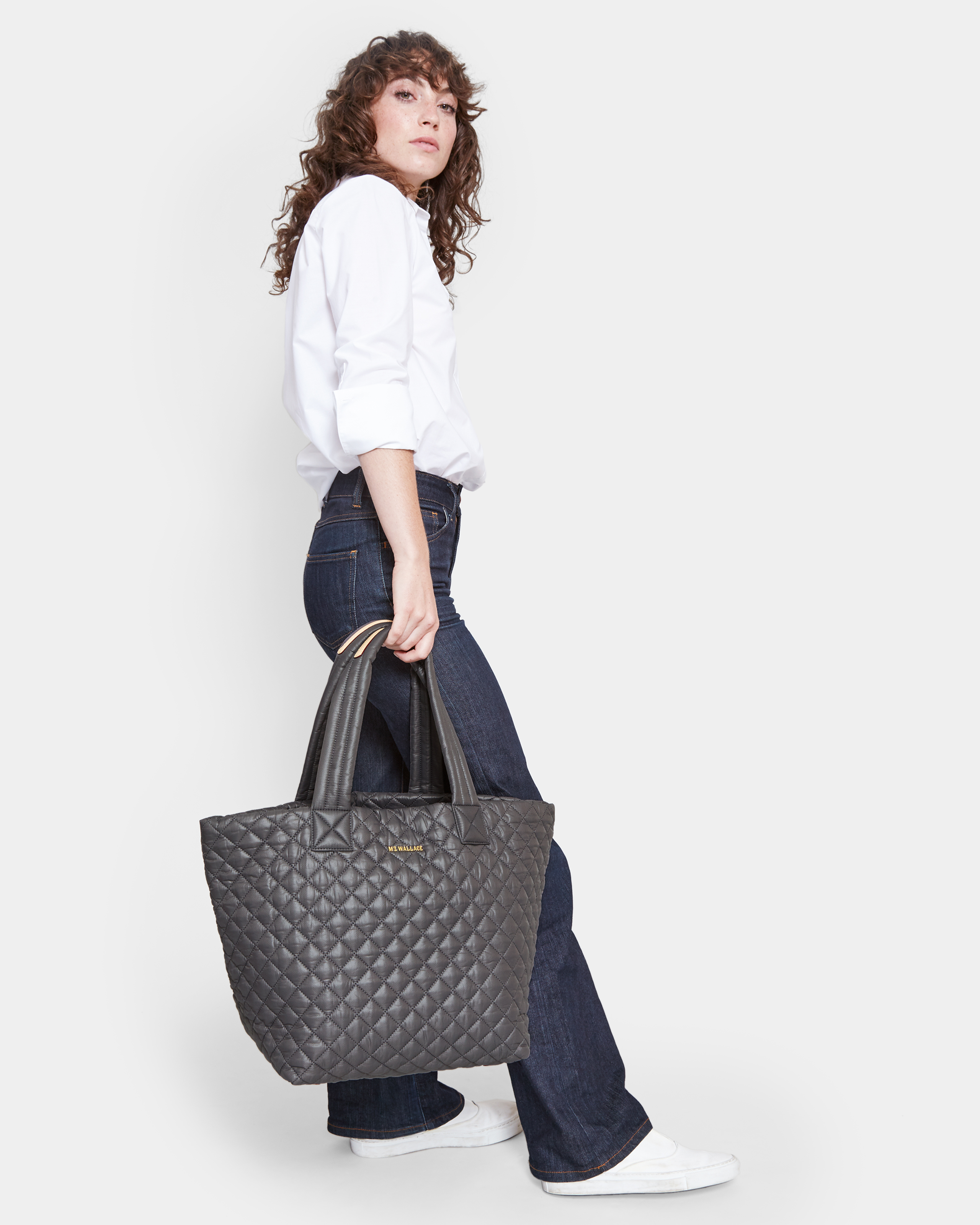 Magnet Oxford Nylon Medium Metro Tote (3760404) in color Magnet